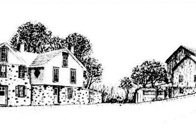 Main House and Barn Drawing