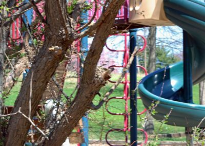 34. Playground through the trees at Playwicki Farm Park